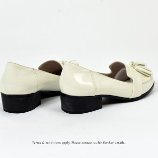 ★ NEW ★  Risurisu | Enamel upper | Handmade | Block Heels | Ivory | RS6302B