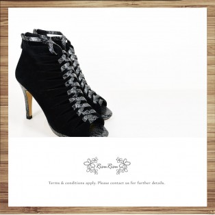 Cross the V baskets empty tip leather fine high heels / RS6322B