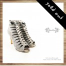 Cross the V baskets empty tip leather fine high heels / RS6322A