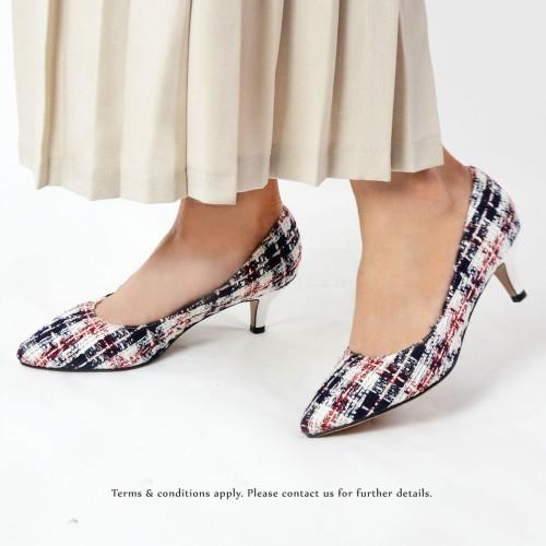 Risurisu Low heels / Handmade / Checkered / RS6499A