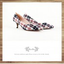 Risurisu Low heels / Handmade / Checkered / RS6499A