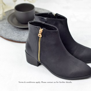 Ankle Boot | Zipper Side | Handmade | Black RS6562A