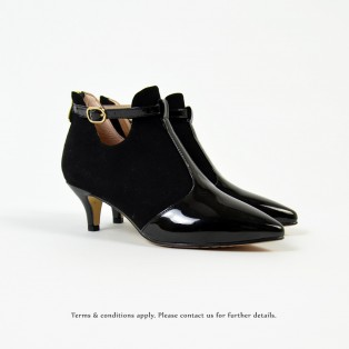 Risurisu Ankle Boots / Handmade / Black Leather / RS6579B