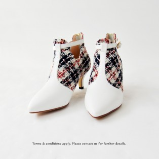 Risurisu Ankle Boots / Handmade / Checkered / RS6579A