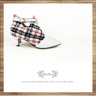 Risurisu Angle Boots / Handmade / Checkered / RS6579A