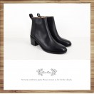 Rough soft leather coated with thick black boots / RS6619A