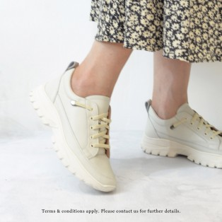 Sneaker collection | Platform Sneaker | Insole With Soft Cushions | Off White | Leather | RS6628A