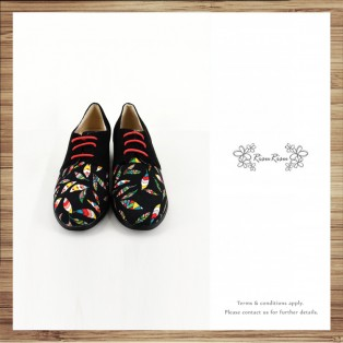Patchwork shoes / Color Leaf / Exotic / handmade custom / Japan cloth / RS6723A