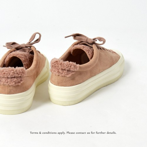 Wool Sneaker collection | Lace-up casual shoes | Insole With Soft Cushions | Pink | RS6827B