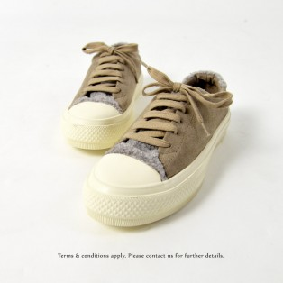 Wool Sneaker collection | Lace-up casual shoes | Insole With Soft Cushions | Grey | RS6827A