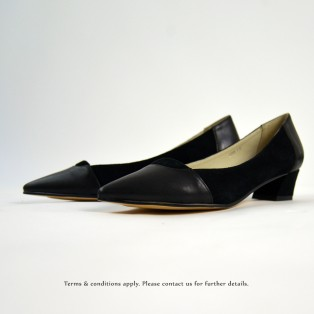 Classic Square Heel Shoes | Black | Thick Heel | Retro | Leather Shoes | RS6833A