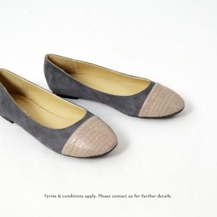 Two-Tone | Round Toe | Ballerina | Emmalyn | Grey | RS6886B