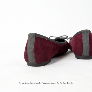 Mono Color | Ballerinas | Flats | Easy Match | Burgundy | RS6889A