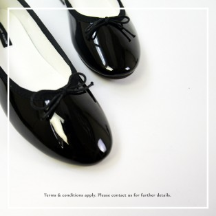 Patent Ballarinas | Flats | Vinyl | Black | RS6910A