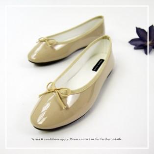 Patent Ballarinas | Flats | Vinyl | Beige | RS6910B