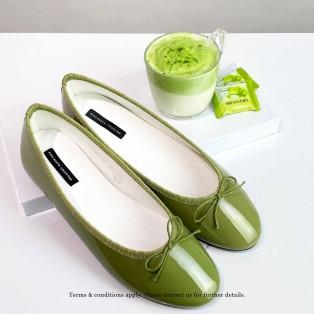 Patent Ballarinas | Flats | Vinyl | Green | RS6910C