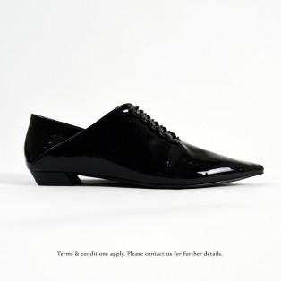 Structure Minimalist Leather Shoes | Vinyl | Black | RS6920A
