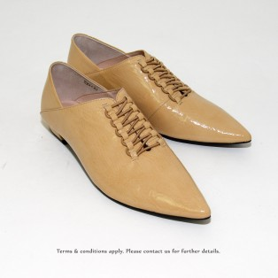 Structure Minimalist Leather Shoes | Vinyl | Beige | RS6920C