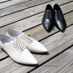 Structure Minimalist Leather Shoes | Sheepskin | Black | RS6930A