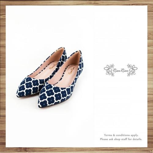 Risurisu Low heels / Handmade / ファブリック Fabric / RS7025A