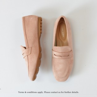 Nubuck Loafers |  Elegant Classic | Easy to Wear | Handmade Shoes | Pink | RS7350A