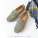 Nubuck Loafers |  Elegant Classic | Easy to Wear | Handmade Shoes | Grey | RS7350B