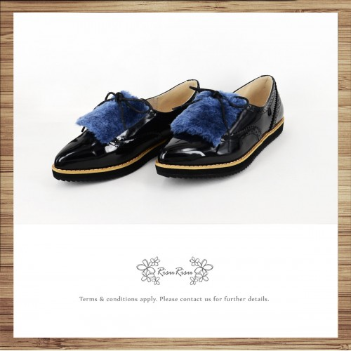 Large fur / ladies pointed shoes / popular two-way type / can remove the fur part / easy to wear design / 7558B