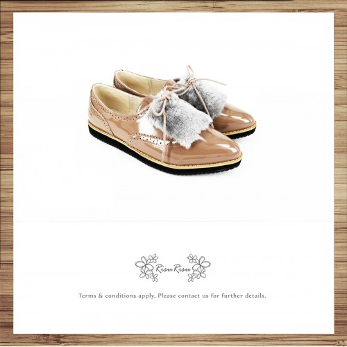 Large fur / ladies pointed shoes / popular two-way type / can remove the fur part / easy to wear design / 7558A