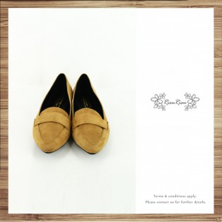 Light Mousse Feet! Velvet Trimming Loafer / Women's shoes / Beige / RS7588B