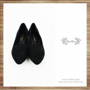 Light Mousse Feet! Velvet Trimming Loafer / Women's shoes / Black / RS7588C