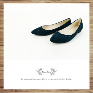 Studs Flat Pumps / Streamline pointed design / RS7730A