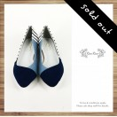 French sailor strips shoes / Women's shoes / Handmade custom / Picasso blue and white striped /  RS8201A