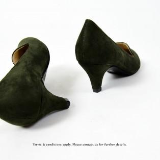 ESSENTIAL LOW HEELS | Dark.Green | Handmade | RS8850A